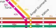 El mapa de calorías de Metrovalencia anima a combinar el uso del metro y el ejercicio físico